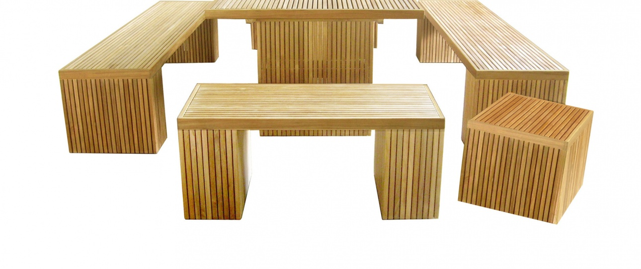 Teak_Outdoor_Benchstool_Liner_in_Set