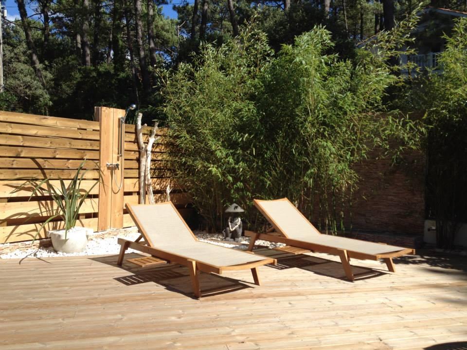 teak outdoor Sunbed for villa project