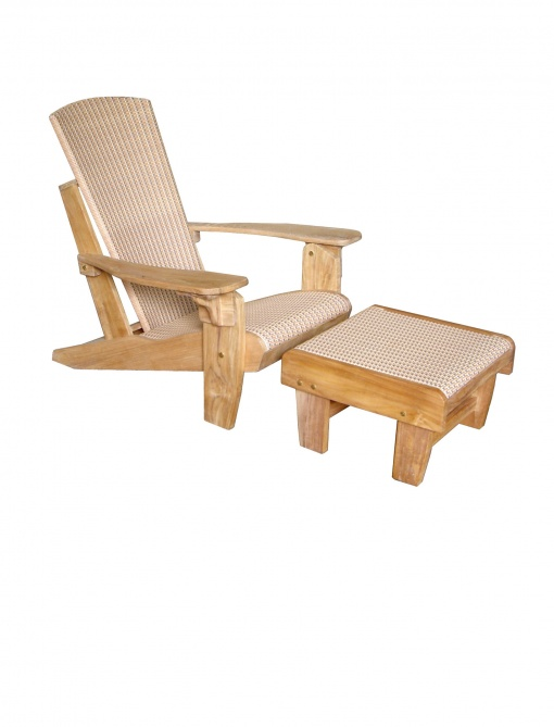 Synth_Rattan_Steamer_Chair_Folding_Adirondack+Footstool-Terracotta