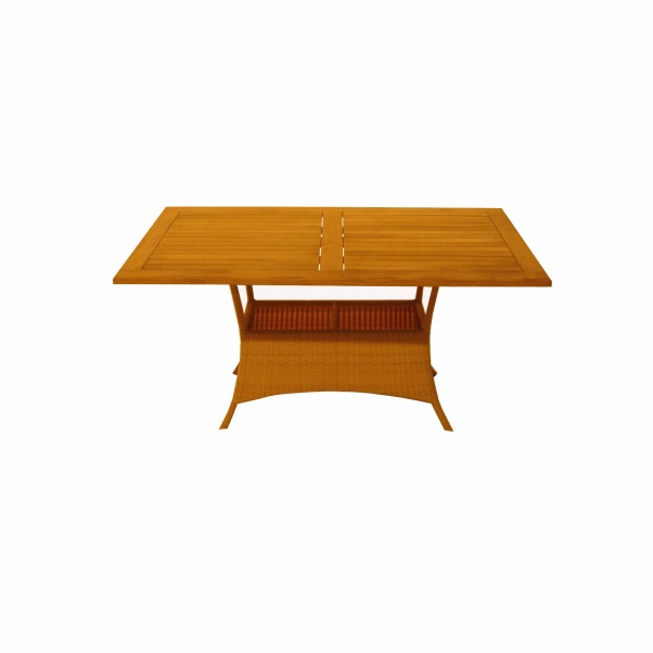 Synth_Rattan_Table_Recta_Wooden_Leg_150x90