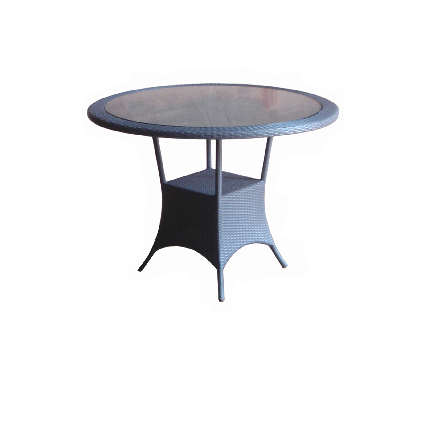 Rattan Table Round Glass Top. 🔍. Synth_Rattan_Table_Round_Glass_Top