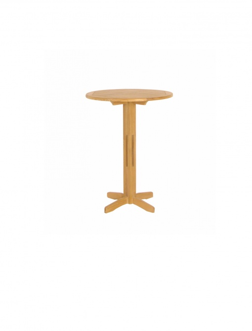 Teak-Table-Bar-Round-Resto-D90